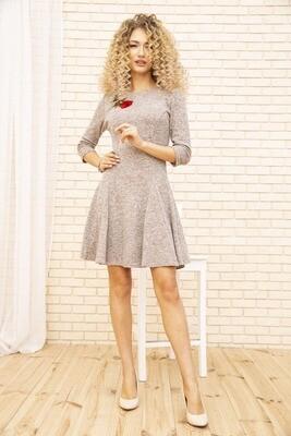 Платье расклешенное цвет Пудровый