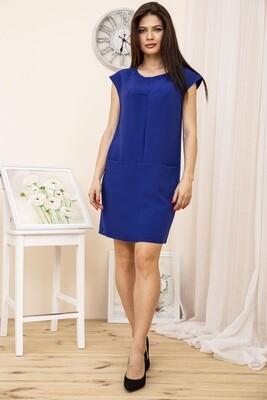 Платье женское с карманами цвет Синий