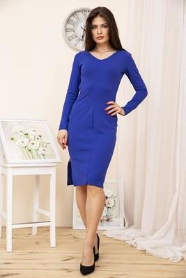 Платье женское с молнией сбоку цвет Синий