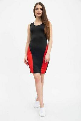 Платье женское цвет Черно-красный