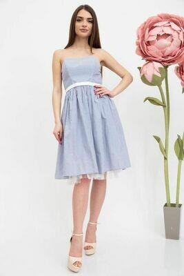 Платье женское цвет Голубой-белый