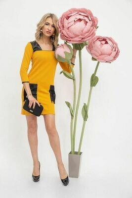 Платье мини цвет Горчичный