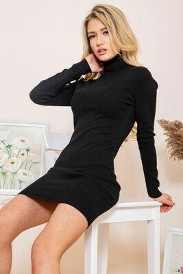 Платье-гольф цвет Черный
