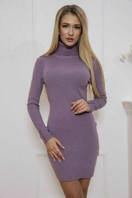 Платье-гольф цвет Сиреневый
