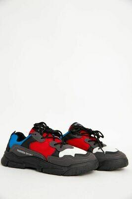 Кроссовки мужские цвет Черно-красный