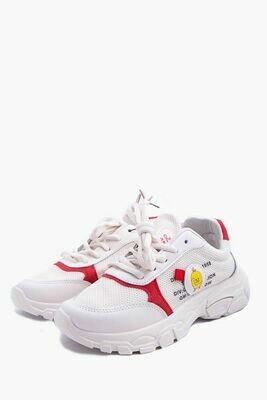 Кроссовки цвет Бело-красный