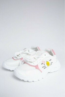 Кроссовки цвет Бело-розовый
