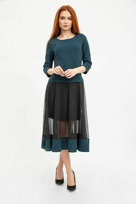 Платье женское цвет Темно-зеленый