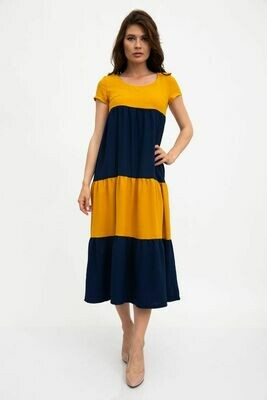 Платье цвет Горчично-синий