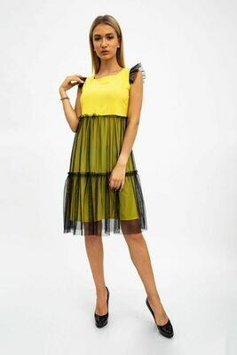 Платье женское цвет Желто-черный