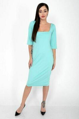 Платье женское цвет Бирюзовый