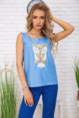 Women's T-shirt with sequins color Jeans
