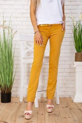 Women's trousers color Mustard