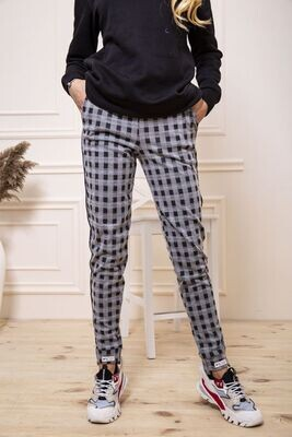 Women's trousers in a cage color Gray