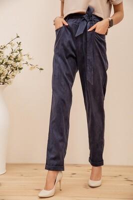 Women's trousers corduroy color Black