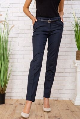 Pants for women classic tapered to the bottom color Navy
