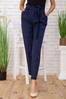 Pants for women with a high rise and arrows color Navy