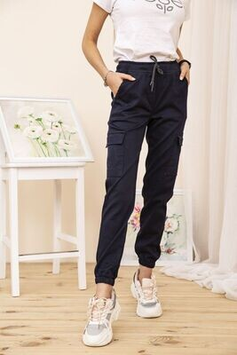 Cargo pants for women color Dark blue