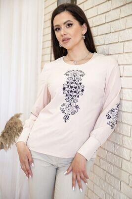 Women's blouse with ornament color Beige