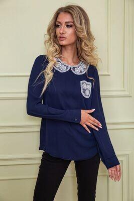 Women's blouse color Dark blue