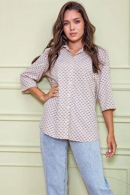 Women's blouse color Beige-powder