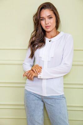 Women's blouse color White
