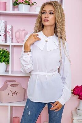 Women's elegant blouse color White