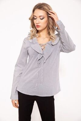 Women's blouse color Black and white