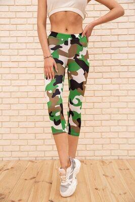 Women's breeches color Green white