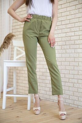 Women's cropped trousers with elastic band color Purple