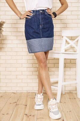 Denim women's skirt in two colors