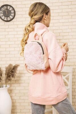 Small backpack with fur color Pink
