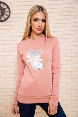 Sweatshirt female color Pink