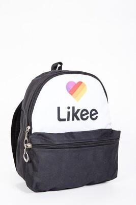 Likee Zip Pocket Backpack color Black