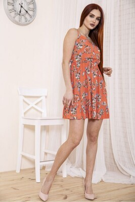 Short dress with coral print
