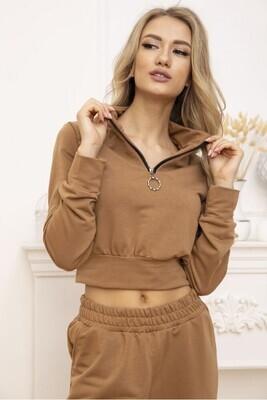 Sweatshirt womens cropped color Black