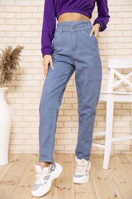 Женские джинсы МОМ с резинкой на талии