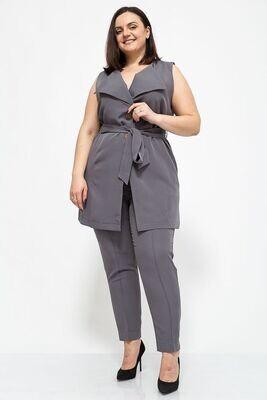 Women's suit vest and pants large size color Black