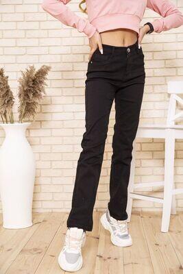 Женские прямые джинсы черного цвета