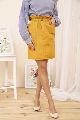 Skirt denim color Dark yellow