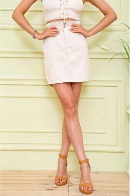 Women's skirt denim color Beige
