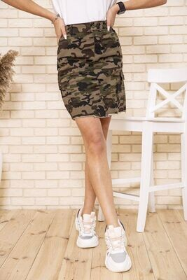 Women's denim military skirt