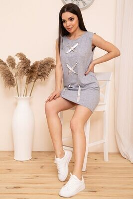 Sleeveless short dress in sporty style color Gray