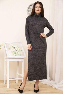 Floor-length dress with side slit color Blue