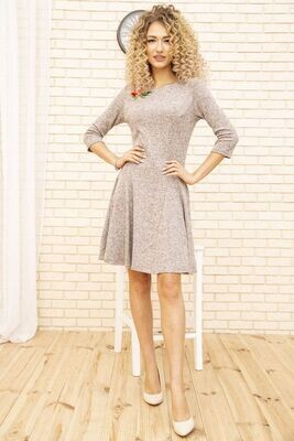 Women's flared dress with flower color Lilac