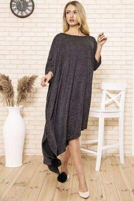 Loose fit dress large size color Dark gray