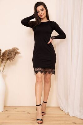 Bodycon Mini Dress with Electric Lace