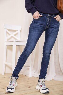 Женские джинсы скинни синего цвета