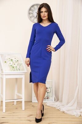 Bodycon dress with a slit color Blue