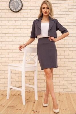 Women's Suit Crop Jacket and Pencil Skirt Black